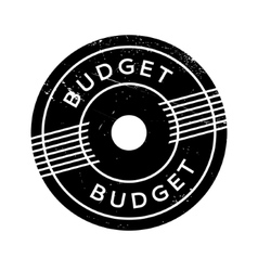 Budget rubber stamp vector image