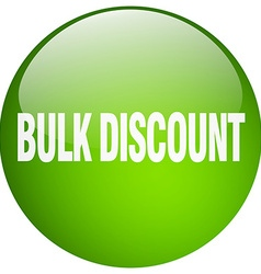 Bulk discount green round gel isolated push button vector