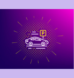 Car parking line icon park place sign hotel vector