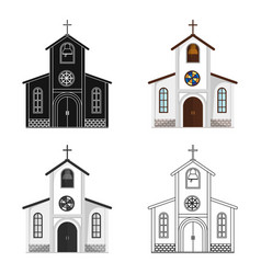 Church in which the bride and groom conduct a rite vector