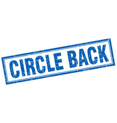 Circle back square stamp vector