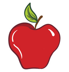 Clipart an apple fruit or color vector