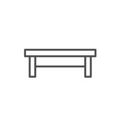 Coffee table line icon vector
