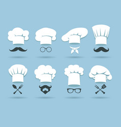 Cook chef hat logo vector