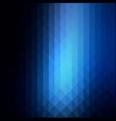 Deep and pale blue rows of triangles background vector