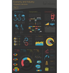 Economy and industry Fuel industry Industrial vector
