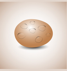Egg with water drops vector