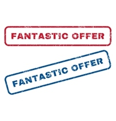 Fantastic offer rubber stamps vector