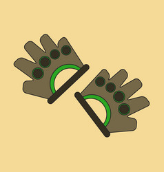 Flat icon on stylish background gloves for the gym vector