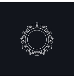Floral circle frame vector image