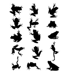 Frog animal silhouette vector