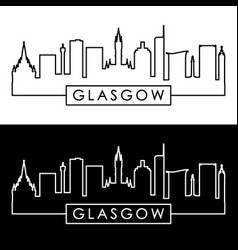 Glasgow skyline linear style editable file vector