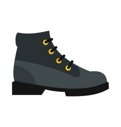 Gray boot icon in flat style vector image