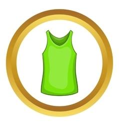 Green mens t-shirt icon vector image