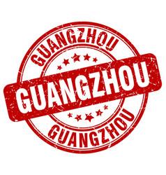 Guangzhou red grunge round vintage rubber stamp vector