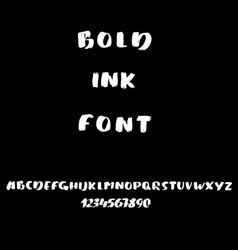 hand drawn font made by dry brush strokes modern vector image vector image
