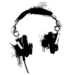 Headphones stencil 2 vector