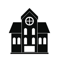 House with a mansard black simple icon vector image