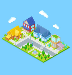 isometric city infrastructure vector image