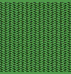 knit texture green color seamless pattern fabric vector image