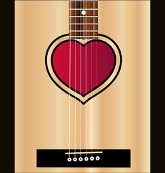 Love acoustic guitar vector