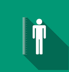 Measuring height body icon with long shadow vector