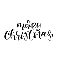 merry christmas hand drawn calligraphy modern vector image
