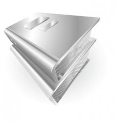 Metallic books vector