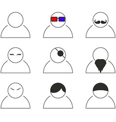 Mobile aplication People icons vector