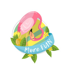 more fun tropical summer label design element vector image