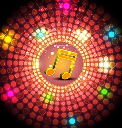 music festival with glowing light vector image vector image