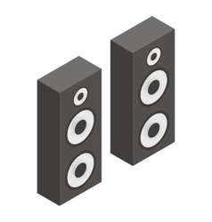 Musical speakers isometric 3d icon vector image
