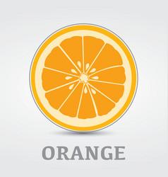 Orange Slice Logo Design vector