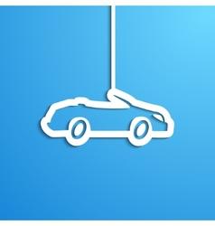 Paper car vector image