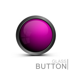 pink trendy button for web interface vector image