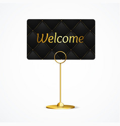 realistic 3d detailed card holder welcome concept vector image