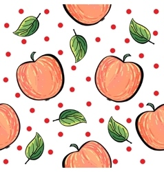 Red apple pattern with red dots vector