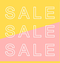 Sale banner in modern style vector