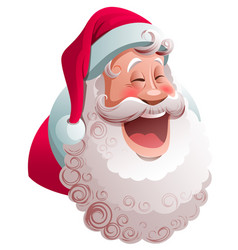 santa claus is smiling widely happy merry vector image