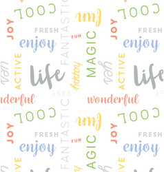 seamless type pattern life color vector image vector image