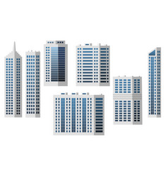 set city buildings isolated to create modern vector image