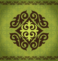 set Kazakh Asian ornaments and patterns vector image