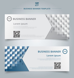 Set of banner web template geometric horizontal vector