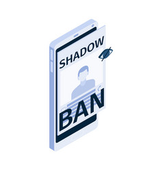 Shadow ban icon vector