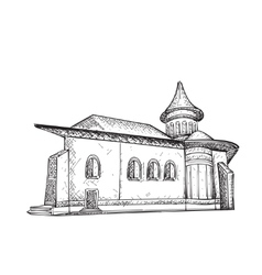 Sketch of Building Hand drawn vector