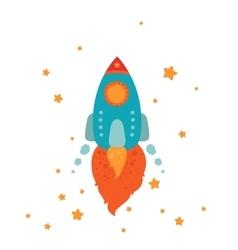 Space rocket flying vector