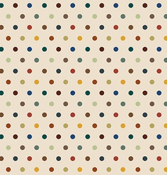 stylish polka dots seamless background vector image