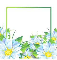 Summer bouquet of flowers vector