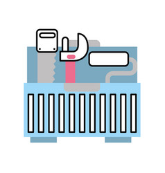 tool box with tools vector image