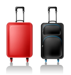 Two suitcases vector